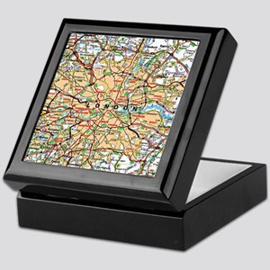 Map of London England Keepsake Box
